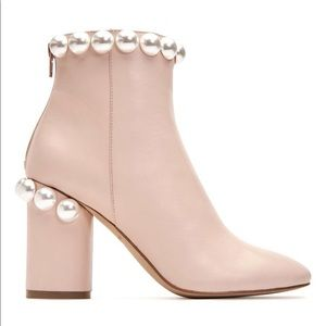New!! Katy Perry Opearl Light Pink Leather Boots